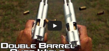 Double Barreled 1911 pistol quad wield rapid fire in Slow Motion