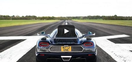 Koenigsegg One:1  Speedo POV High Speed Run. 225MPH at VMax200