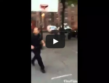 NYPD Officers Pickup Basketball