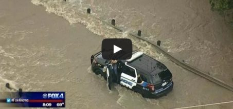 Officer rescued from floodwaters in Sachse