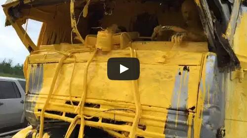 yellow paint truck crash