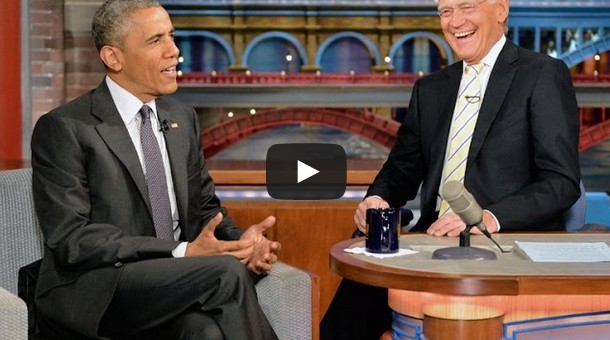 President Obama David Letterman Retirement