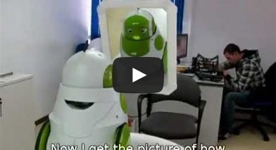 Qbo Robot sees itself for first time
