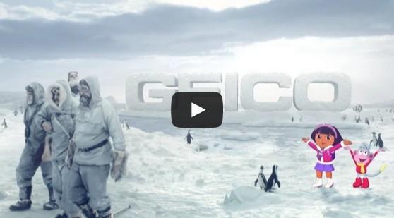 South Pole, Dora the Explorer GEICO