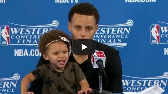Steph Curry's Daughter Riley Steals the Show