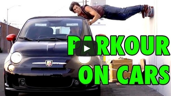 Top 5 Parkour Stunts on Moving Cars