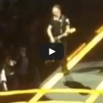 U2's The Edge falls off the stage – I&E Tour 2015 Vancouver
