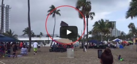 Waterspout Overturns Bounce House on Fort Lauderdale Beach