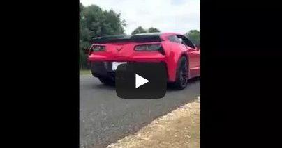 brand new c7 corvette Z06 z07 crash ORIGINAL PRIVATE VIDEO