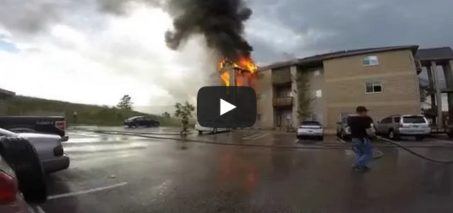 Apartment fire in Rapid City, South Dakota caught on camera