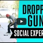 BLACK GUY DROPS GUN IN PUBLIC – not in the hood – SOCIAL EXPERIMENT