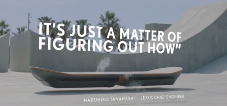 Lexus creates a functional magnetic hover board prototype