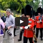 Make Way – stupid man – Queen's guards mow down tourist