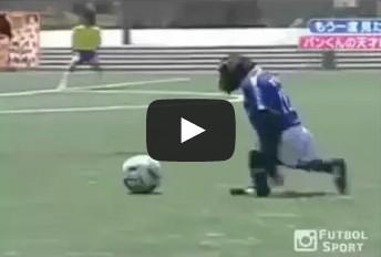 Monkey playing soccer wiggle