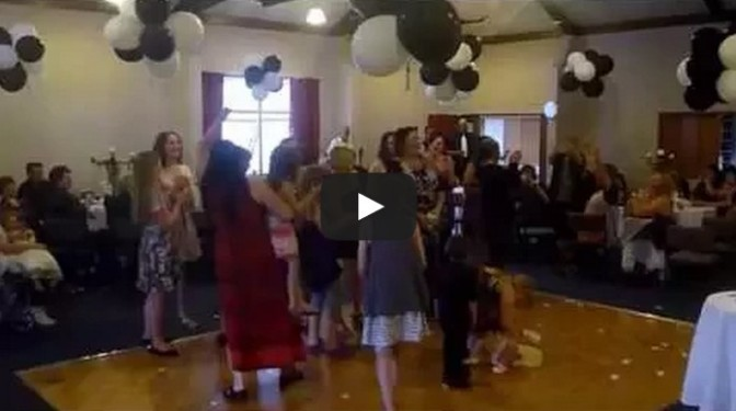 Flower toss Wedding fail!