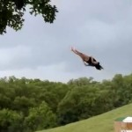 Giant water-slide backflop – The perfect backflop