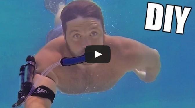 DIY Underwater Breathing Device
