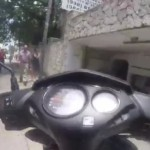 Moped riding turns into instant epic fail!