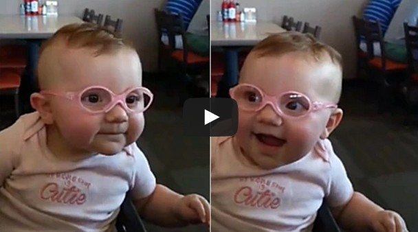 Baby seeing clearly