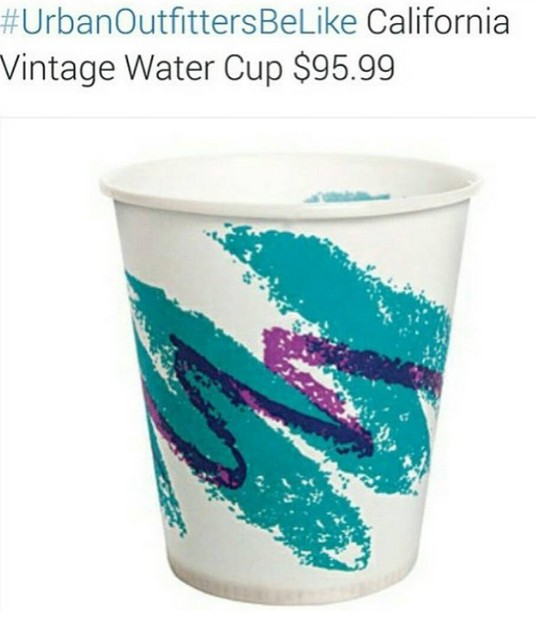 Urban Outfitters Be Like california vintage water cup $95.99