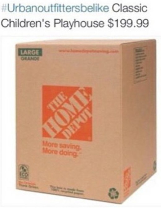 Urban Outfitters be like classic children's playhouse $199.99