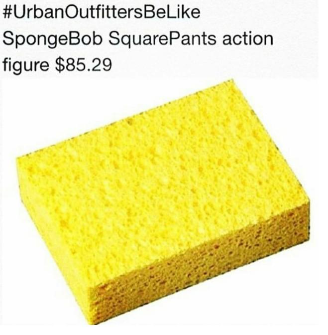 Urban Outfitters be like spongebob squarepants action figure $85.29