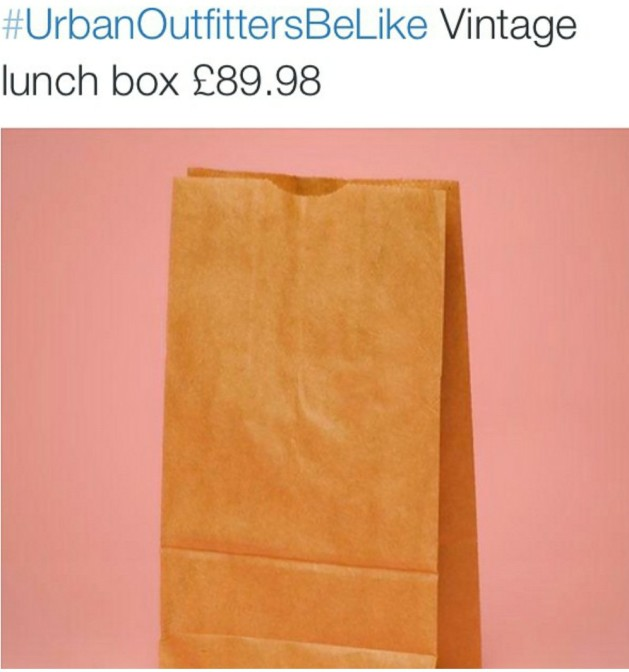 Urban Outfitters be like vintage lunch box 89.98