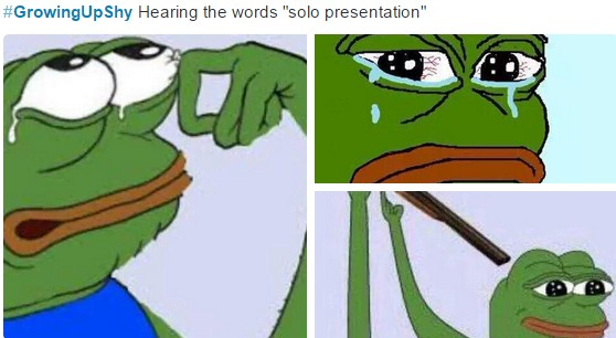 growing up shy hearing the words solo presentation