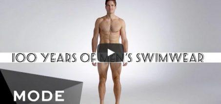 100 Years of Men's Swimwear in 3 Minutes ★ Mode.com