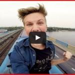 A ride on the roof of the metro train | Поездка на крыше метро