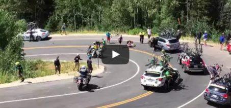 Guardsman's Pass Tour of Utah 2015 Crash