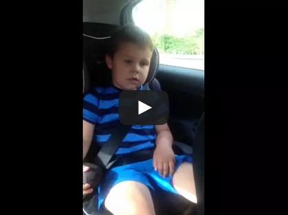 My 5yr olds reaction to becoming a big brother