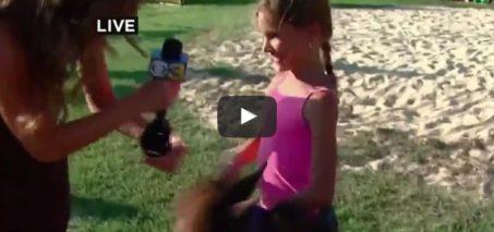 Pony Kicks Girl on Live TV News Blooper