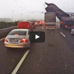 Tornado On The Road! – Dramatic Footage