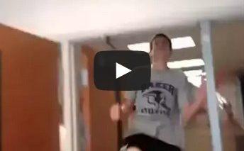 Hi im hntr (Mii music) – Kid hits his head on door frame