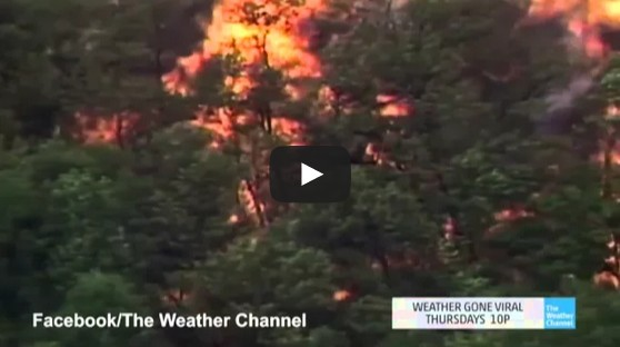 Lightning struck Jim Beam factory leak causes 'firenado'