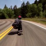 Longboarder Zak Maytum soars down Colorado hill at 70mph!