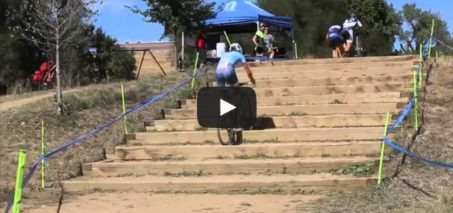 Overcoming stairs on a bike – level: master