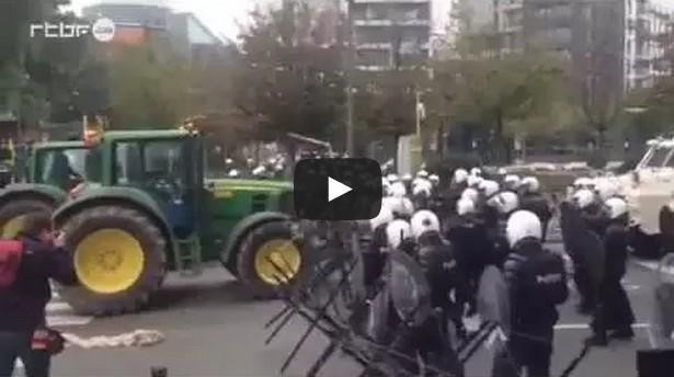 Tractors vs. Police
