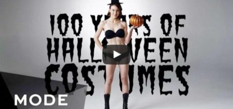 100 Years of Halloween Costumes in 3 Minutes ★ Mode.com