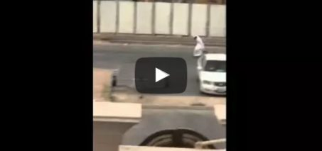 Somewhere in Dubai – Man falls on two wheeled scooter