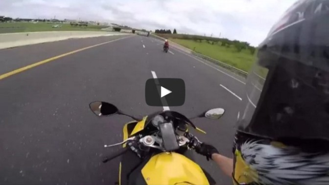 And That's What a Bike Traveling At 200mph Looks Like