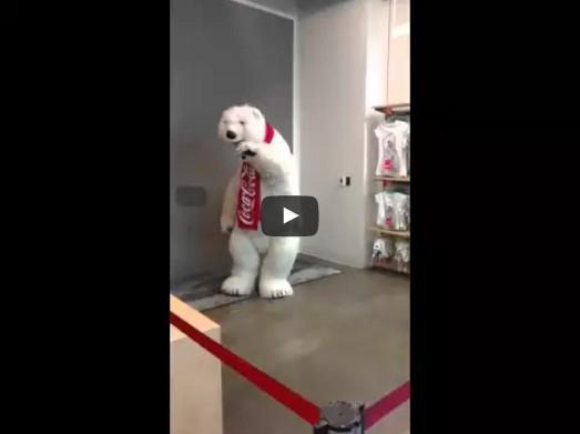 Funny Coca-Cola Mascot