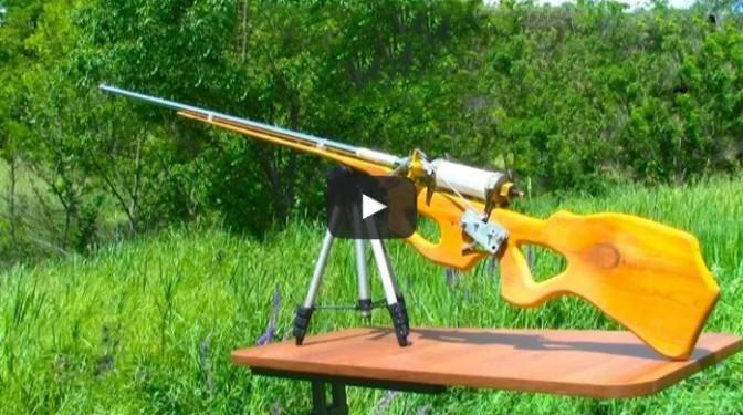 Homemade pneumatic air-gun