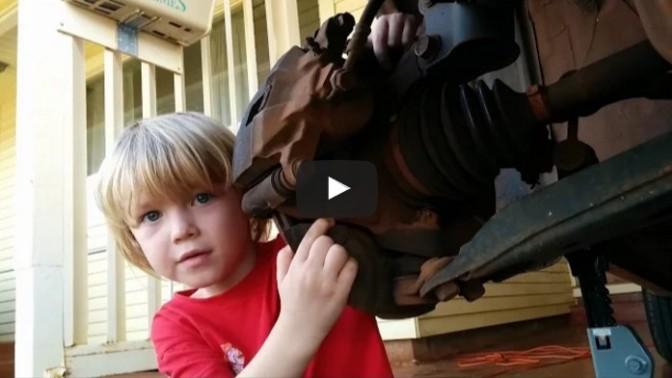 Kindergarten mechanic replaces 2001 Corolla wheel bearing