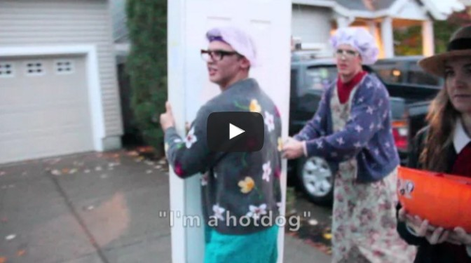 Reverse Trick-or-Treating with Door