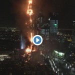 Address Hotel in Dubai is completely engulfed in flames right now.