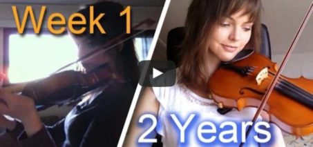 Adult beginner violinist – 2 years progress video