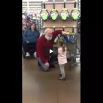 Little girl mistakes a shopper for Santa and he plays along!