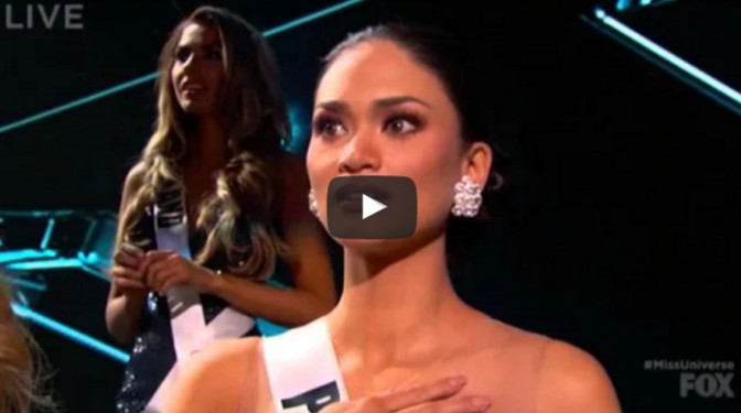 Miss Philippines Pia Alonzo Wurtzbach Wins 2015 Miss Universe